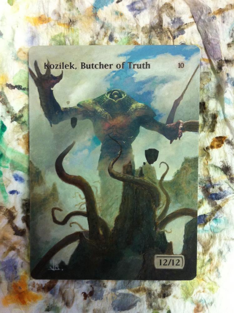 Kozilek, Butcher of Truth card alter by JB Alterz