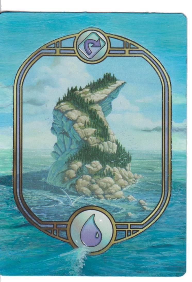 Island - Unglued card alter by Goegleren