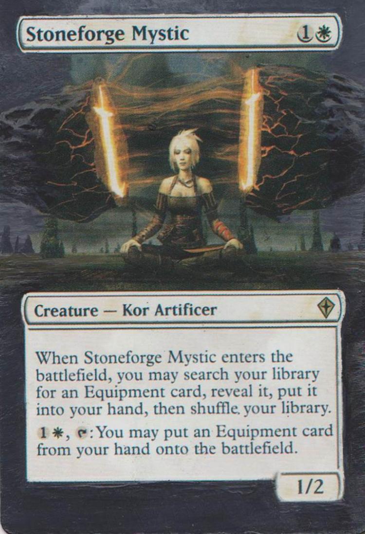 Stoneforge Mystic card alter by Goegleren