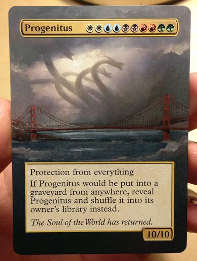 Progenitus card alter by hydrus123