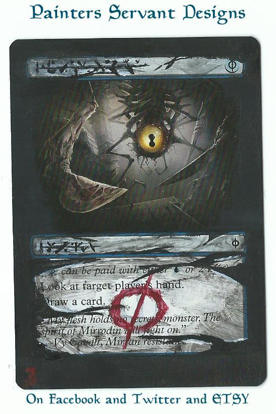 Gitaxian Probe card alter by PaintersServant