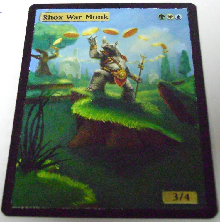 Rhox War Monk card alter by PaintersServant