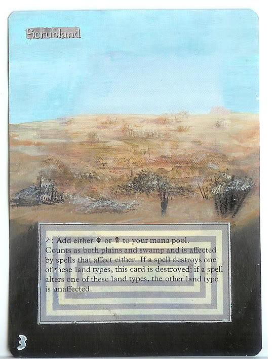 Scrubland card alter by PaintersServant