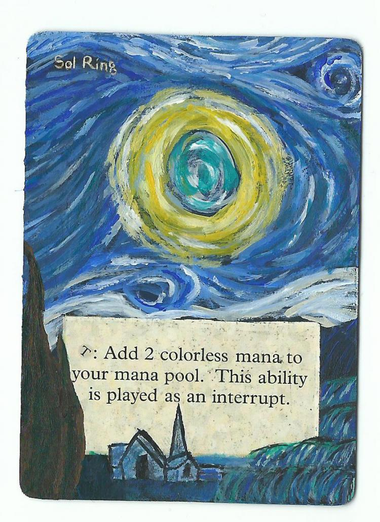 Sol Ring card alter by PaintersServant