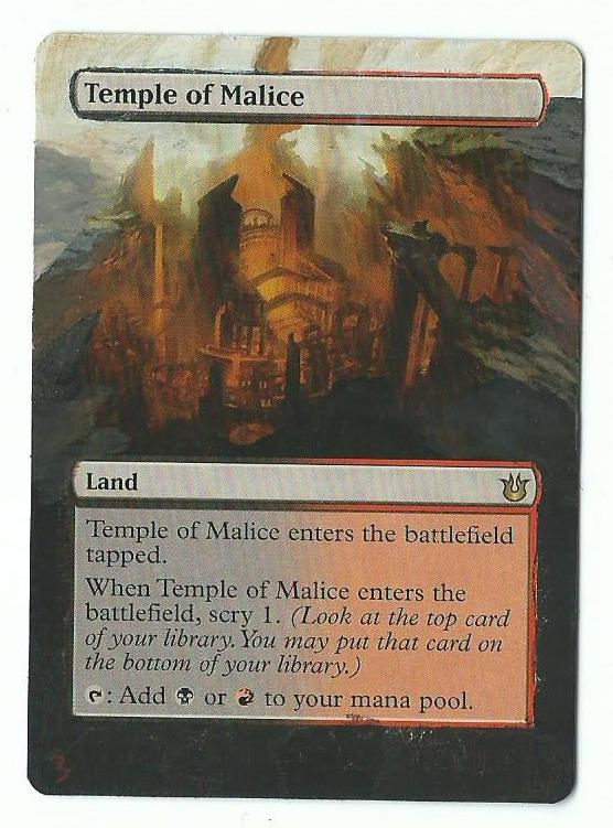 Temple of Malice card alter by PaintersServant