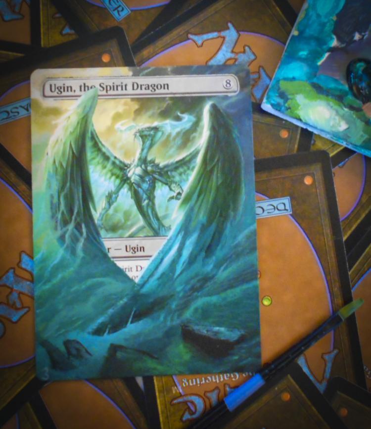 Ugin, the Spirit Dragon card alter by PaintersServant