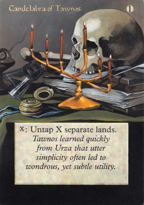 Candelabra of Tawnos card alter by goat314