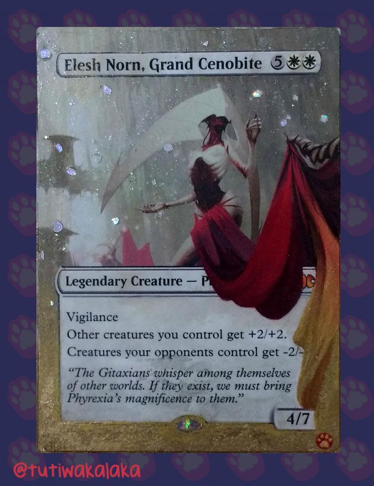 Elesh Norn, Grand Cenobite card alter by tutiwakalaka