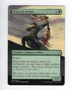 Atzocan Archer Card Alter by FrostedSyntax
