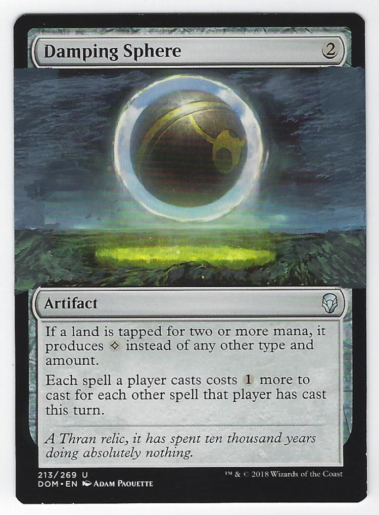 Damping Sphere card alter by FrostedSyntax