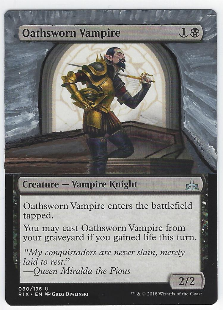 Oathsworn Vampire card alter by FrostedSyntax