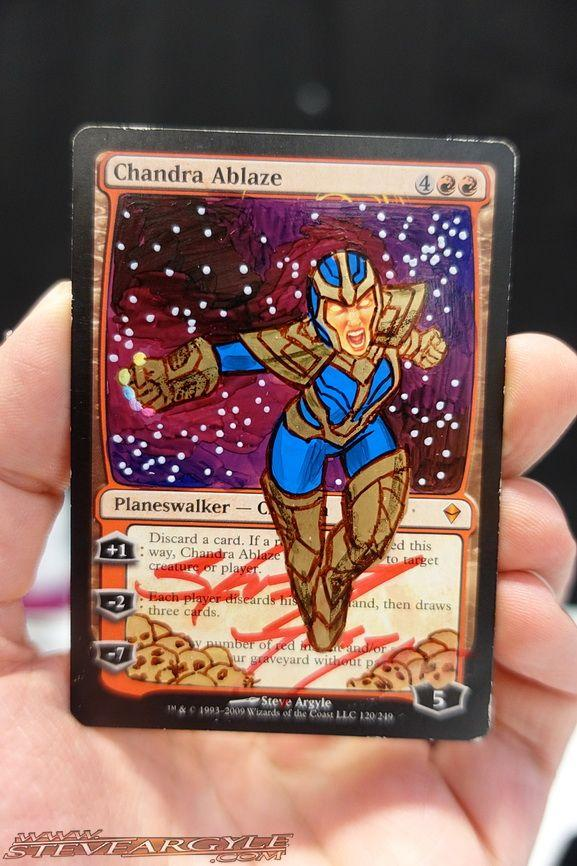 Chandra Ablaze card alter by l337back