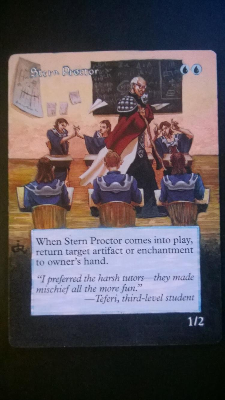 Stern Proctor card alter by NukeTheHippos
