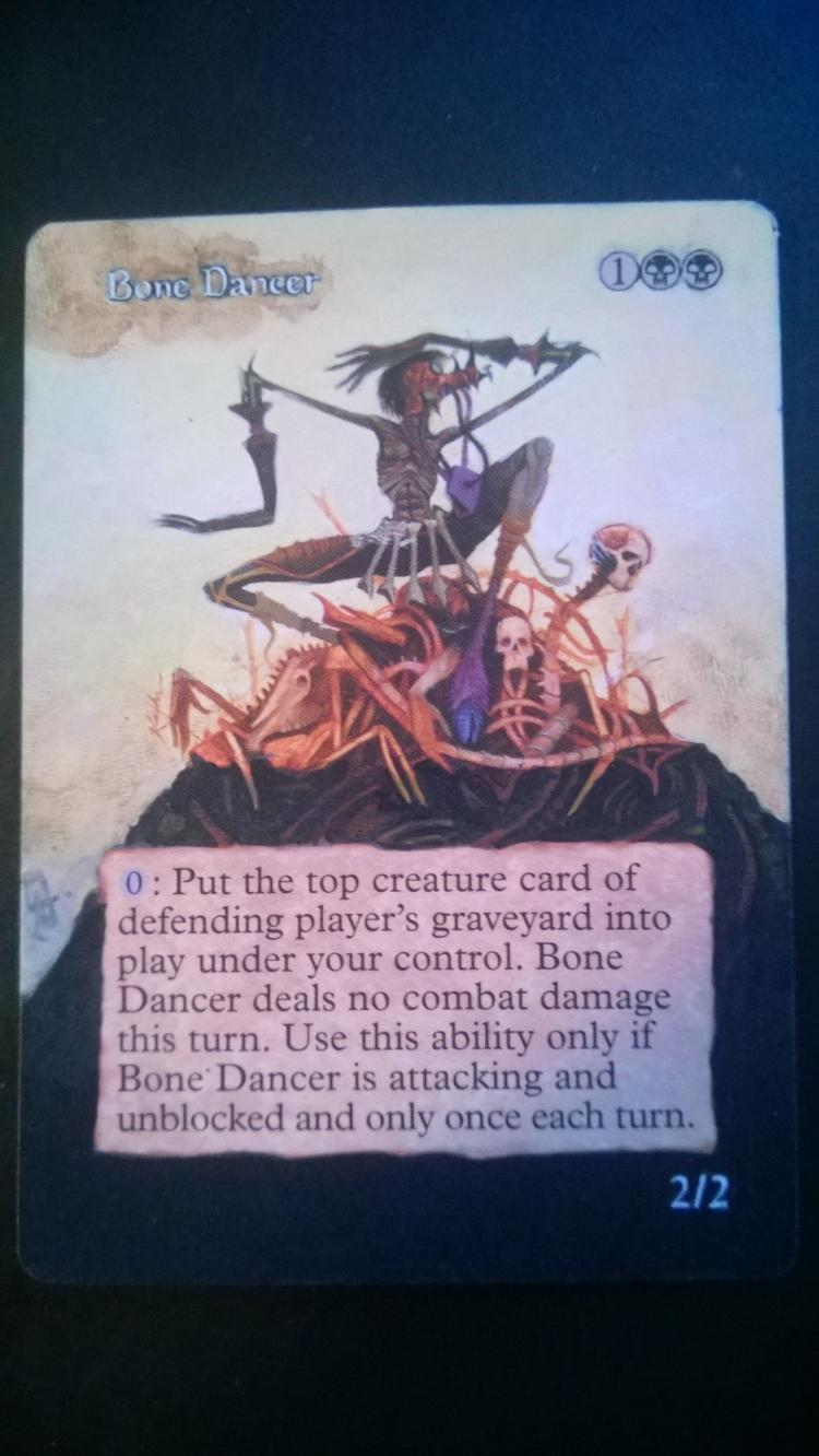 Bone Dancer card alter by NukeTheHippos