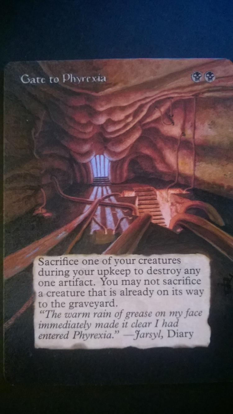 Gate to Phyrexia card alter by NukeTheHippos