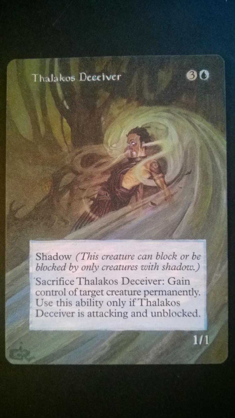 Thalakos Deceiver card alter by NukeTheHippos