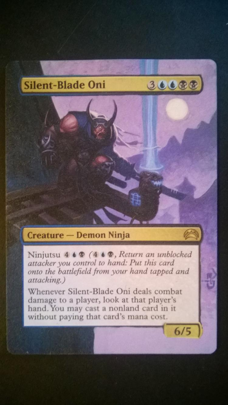 Silent-Blade Oni card alter by NukeTheHippos