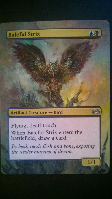 Baleful Strix card alter by NukeTheHippos