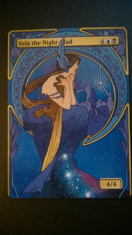 Vela the Night-Clad card alter by NukeTheHippos