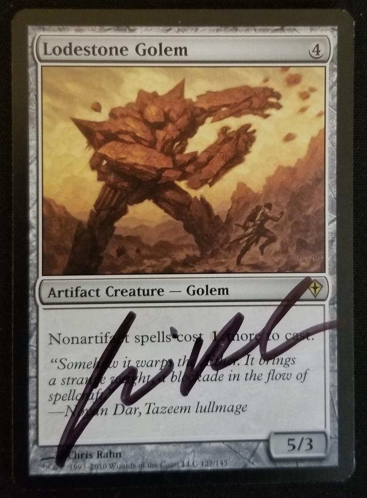 Lodestone Golem card alter by kmotquin