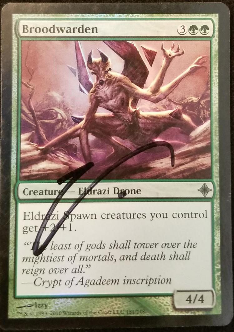 Broodwarden card alter by kmotquin