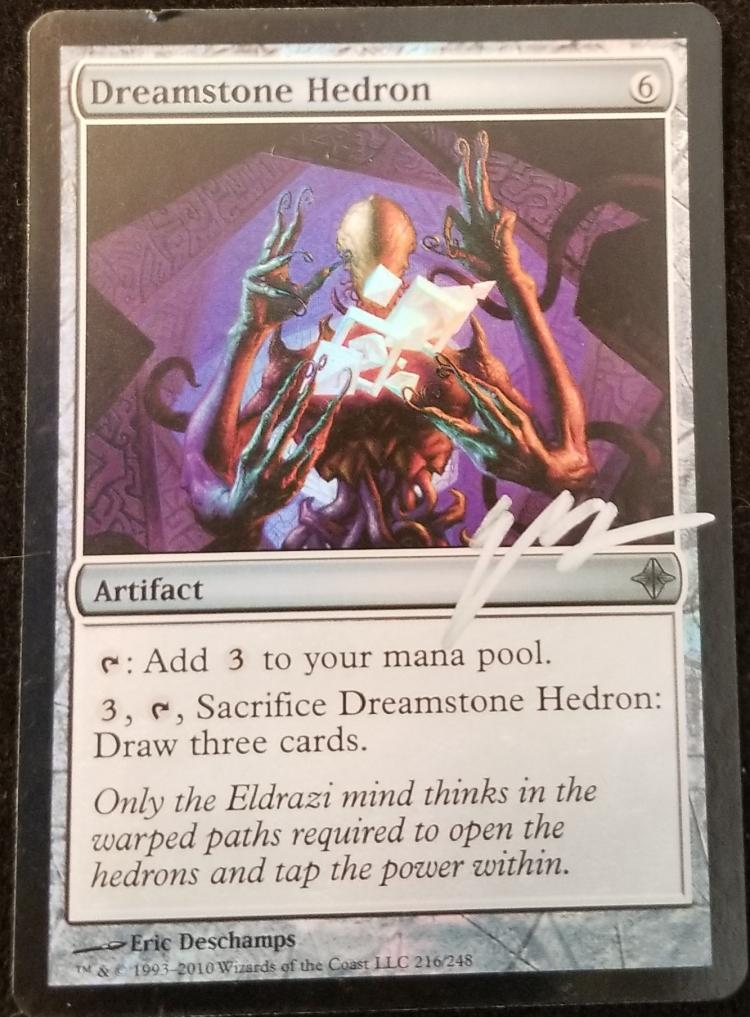 Dreamstone Hedron card alter by kmotquin