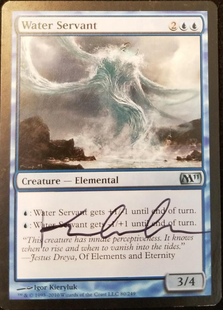 Water Servant card alter by kmotquin