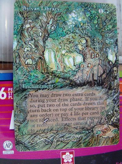 Sylvan Library card alter by seesic
