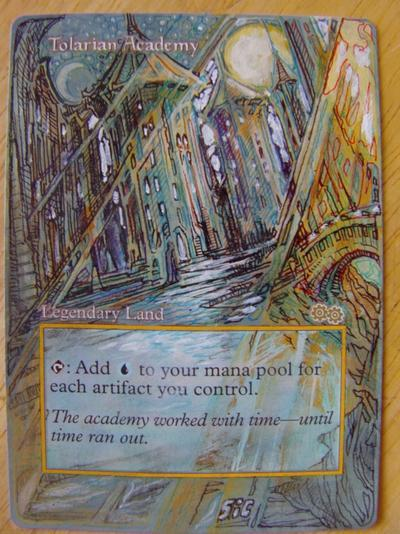 Tolarian Academy card alter by seesic