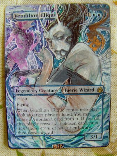 Vendilion Clique card alter by seesic
