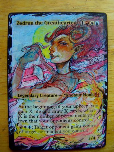 Zedruu the Greathearted card alter by seesic