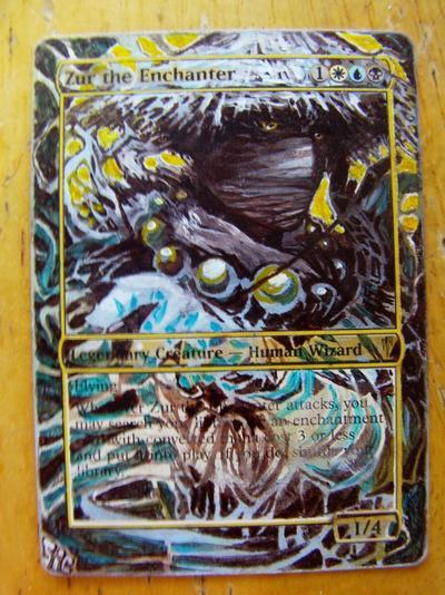 Zur the Enchanter card alter by seesic