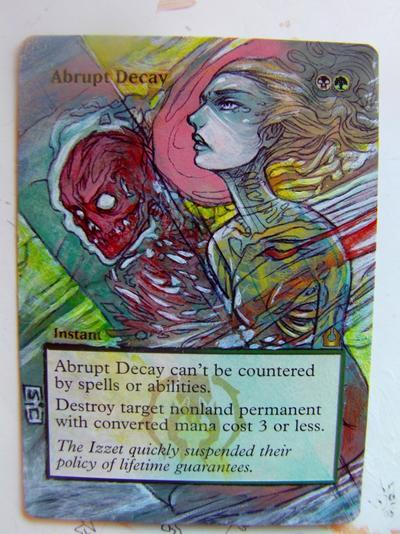 Abrupt Decay card alter by seesic