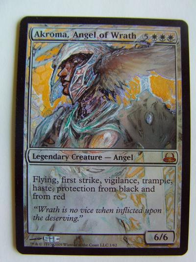 Akroma, Angel of Wrath card alter by seesic