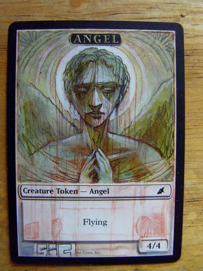 Angel Token card alter by seesic