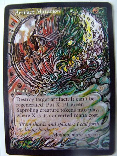 Artifact Mutation card alter by seesic