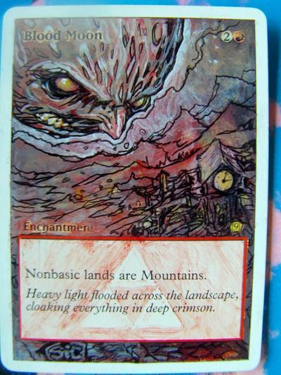 Blood Moon card alter by seesic