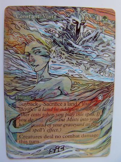 Constant Mists card alter by seesic