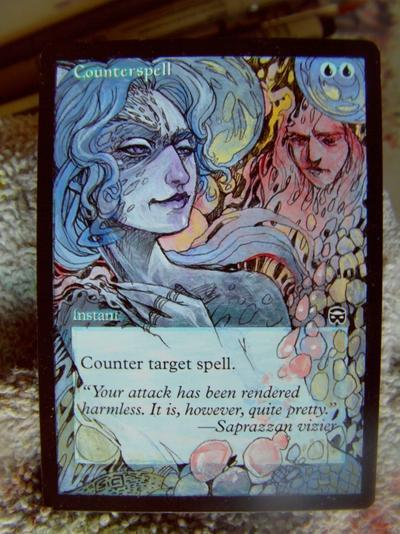 Counterspell card alter by seesic