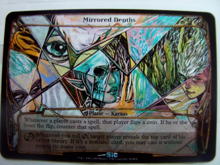 Mirrored Depths (Planechase Anthology) card alter by seesic