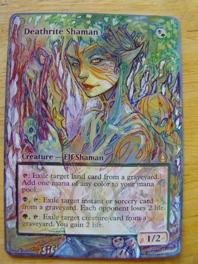 Deathrite Shaman card alter by seesic