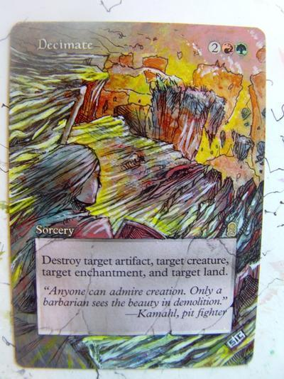 Decimate card alter by seesic