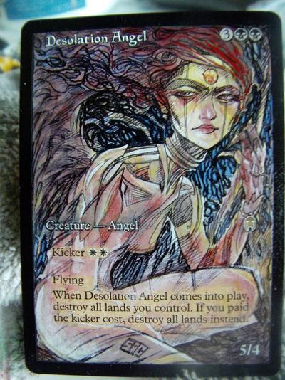 Desolation Angel card alter by seesic