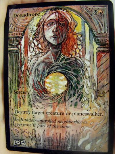 Dreadbore card alter by seesic