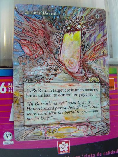 Erratic Portal card alter by seesic