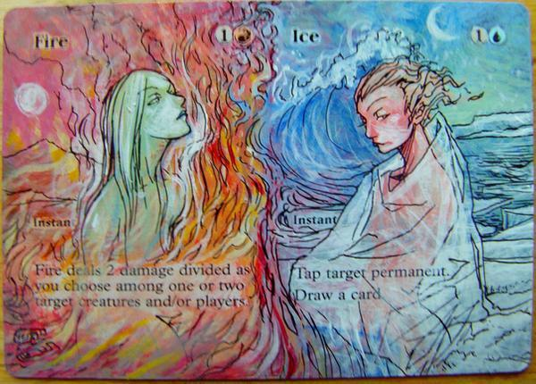 Fire // Ice card alter by seesic