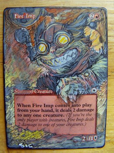 Fire Imp card alter by seesic