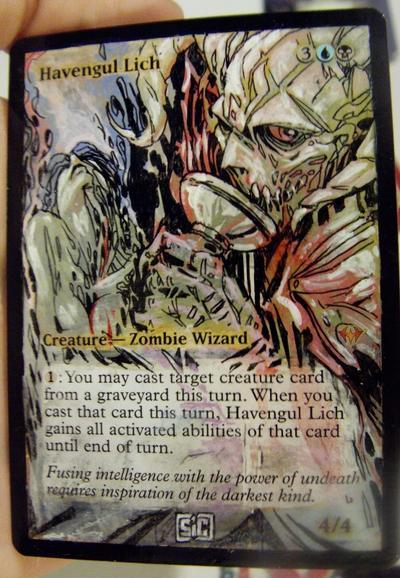 Havengul Lich card alter by seesic