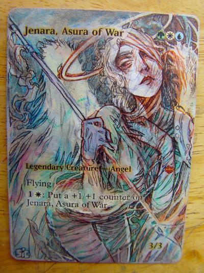 Jenara, Asura of War card alter by seesic