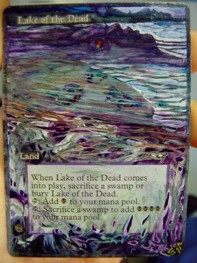 Lake of the Dead card alter by seesic